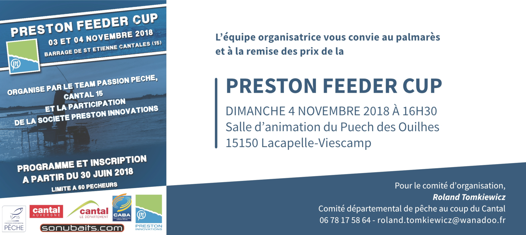 Invitation Preston Feeder Cup